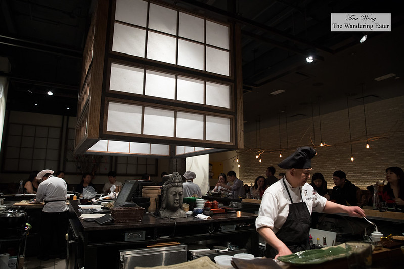 Interior with Executive Chef Koji Hagihara on the right