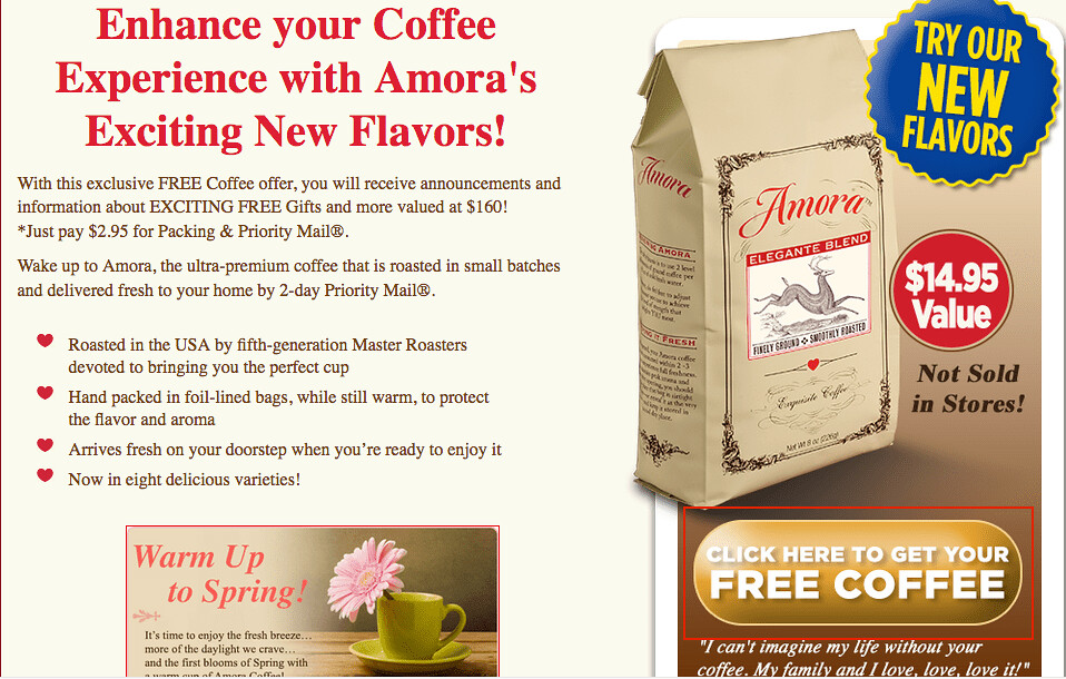 free samples of coffee-amora-coffee