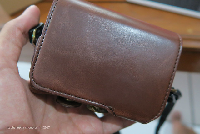 Leather Case Canon G7X-Back