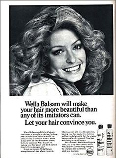 wella balsam shampoo conditioner ad farrah s 1975 wella flickr