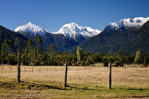 Montañas Nevadas En La Patagonia: Lago Chapo (Patagonia
