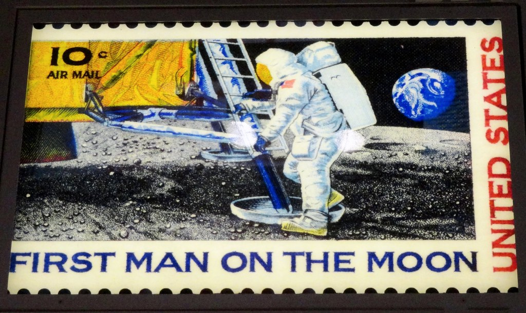 First Man On The Moon Stamp 1969