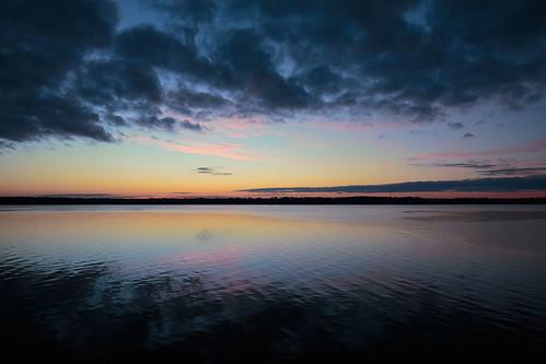 Chattahoochee River (Lake Eufaula) sunset, Alabama
