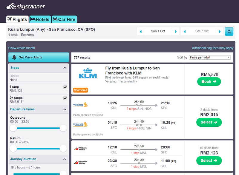 skyscanner PAL san francisco