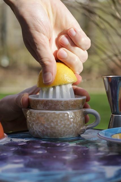 Jasmine Fizz Cocktail - lemon