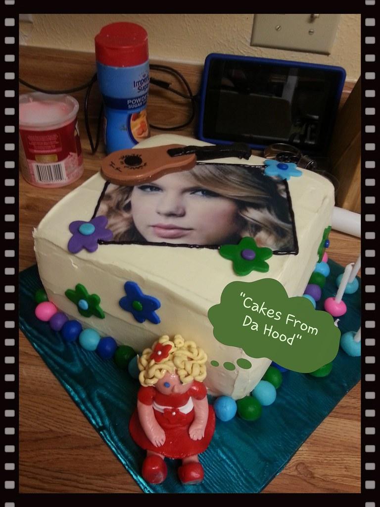 Swell Taylor Swift Birthday Cake Windy Tolliver Bake A Wish Flickr Funny Birthday Cards Online Alyptdamsfinfo