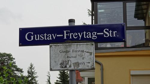 Gustav-Freytag-Straße, nach dem deutschen Schriftsteller  Gustav Freytag, Dresden