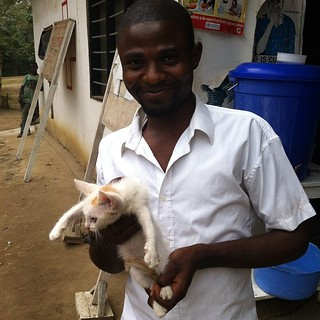 Nuhu with Daisy the cat! | by villagebyvillage