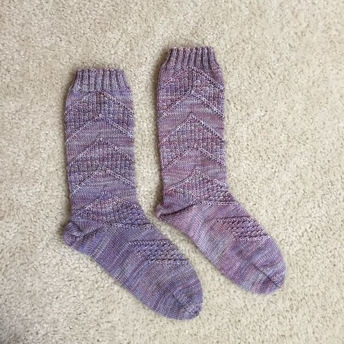 Speckled Space Socks