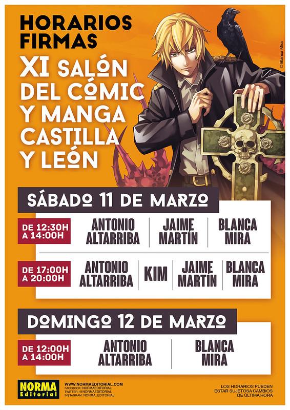 XI Salón del Cómic y Manga de Castilla y León. Firma de autores.