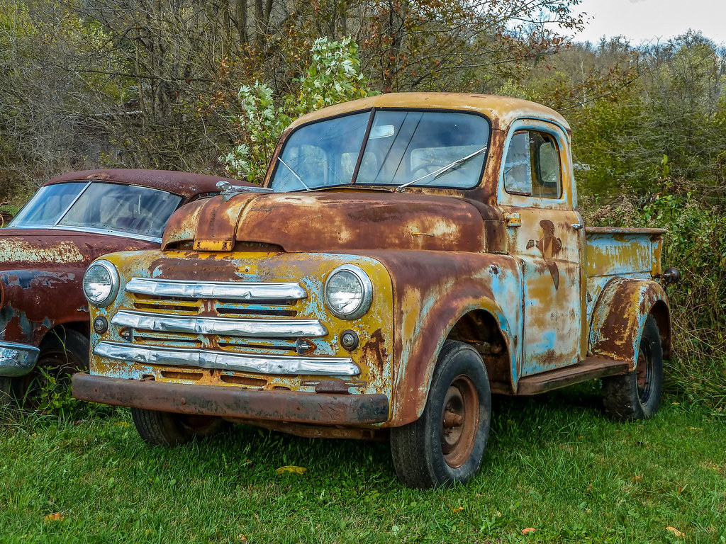 Old 1950 Rusty B Model Dodge Five Window Pickup Truck Flickr