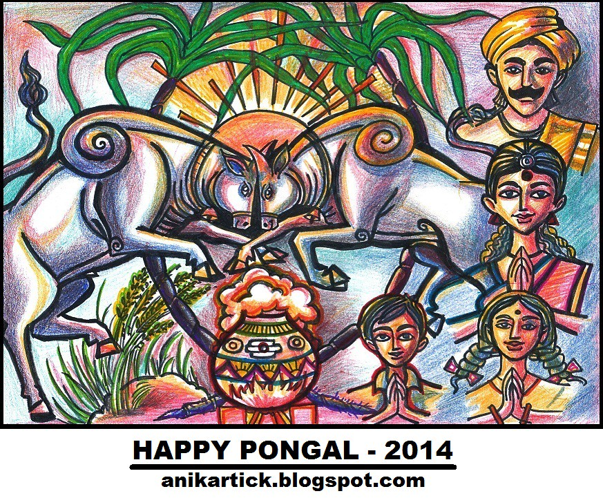Pongal greetings happy pongal 2014 wishes to you all b flickr pongal greetings happy pongal 2014 wishes to you all by artist anikartickchennai m4hsunfo Image collections