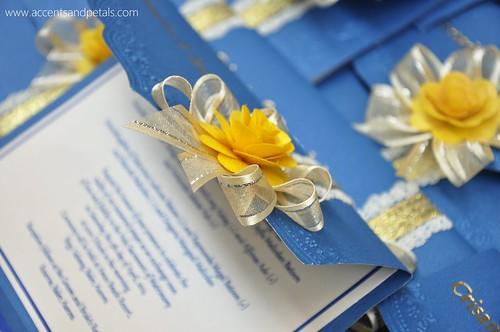 Blue And Yellow Wedding Invitations: Royal Blue And Yellow Wedding Invitation