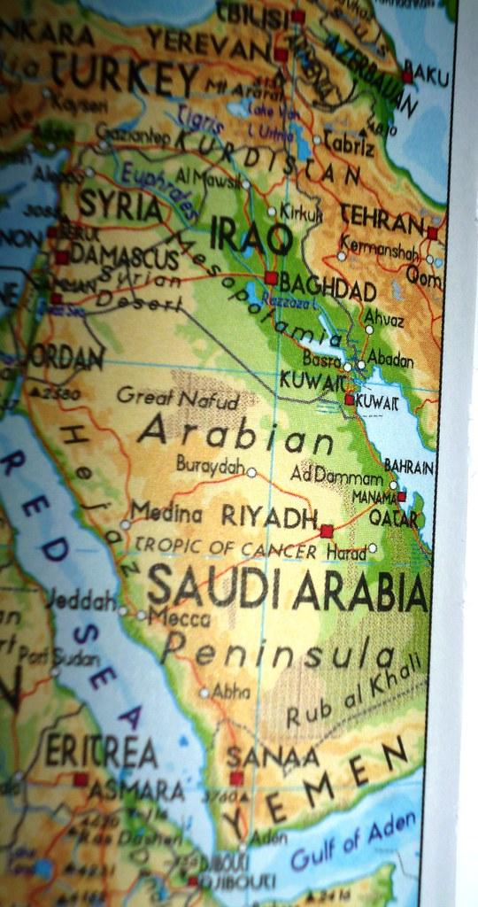 Map Middle East Map Saudi Arabia Middle East Iqbal Osman1
