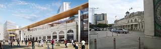 Comparison of Cardiff Central now and if Powell Dobson's plans were implemented