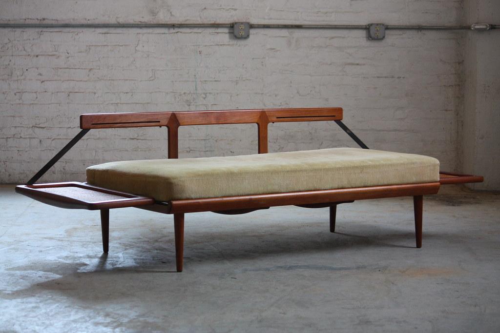 Bon ... Brilliant Peter Hvidt Danish Mid Century Modern Teak Convertible Sofa  Daybed For France U0026 Sons Model