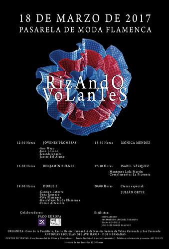 Cartel del desfile de moda flamenca Rizando Volantes de la Hermandad de Valme
