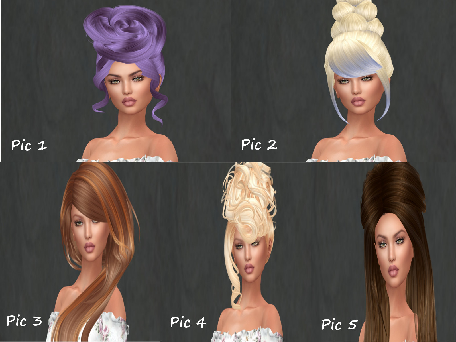 POSH PIXELS HAIR MENAGERIE SET 2
