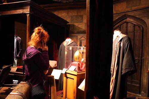 Nathalie besökte Harry Potter-utställningen