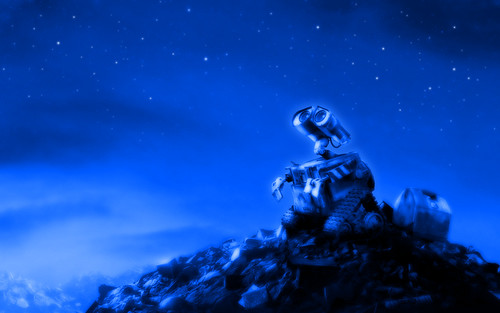 Wall-E looking At The Stars