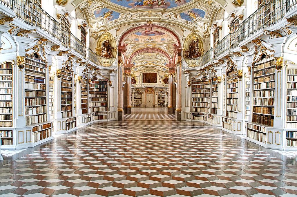 Stiftsbibliothek - Blick Richtung Norden
