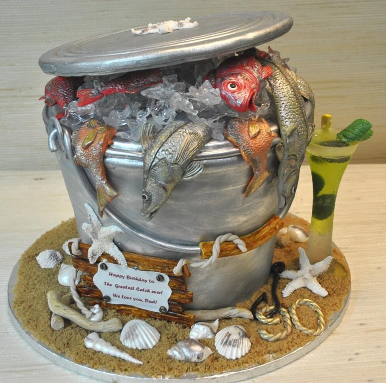 Fish Bucket Birthday Cake Fishing The Cake Zone Florida Flickr