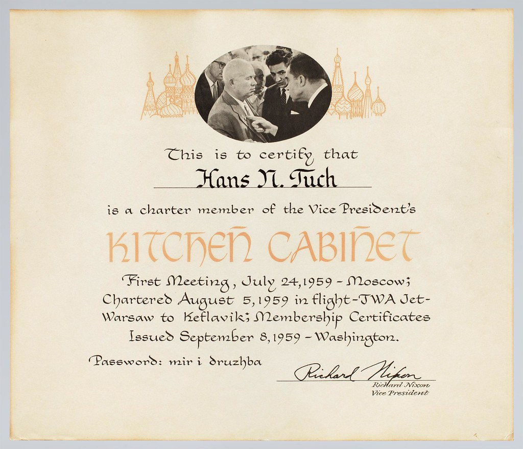 Kitchen Cabinet Certificate US Vice President Richard Flickr - Kitchen cabinet president