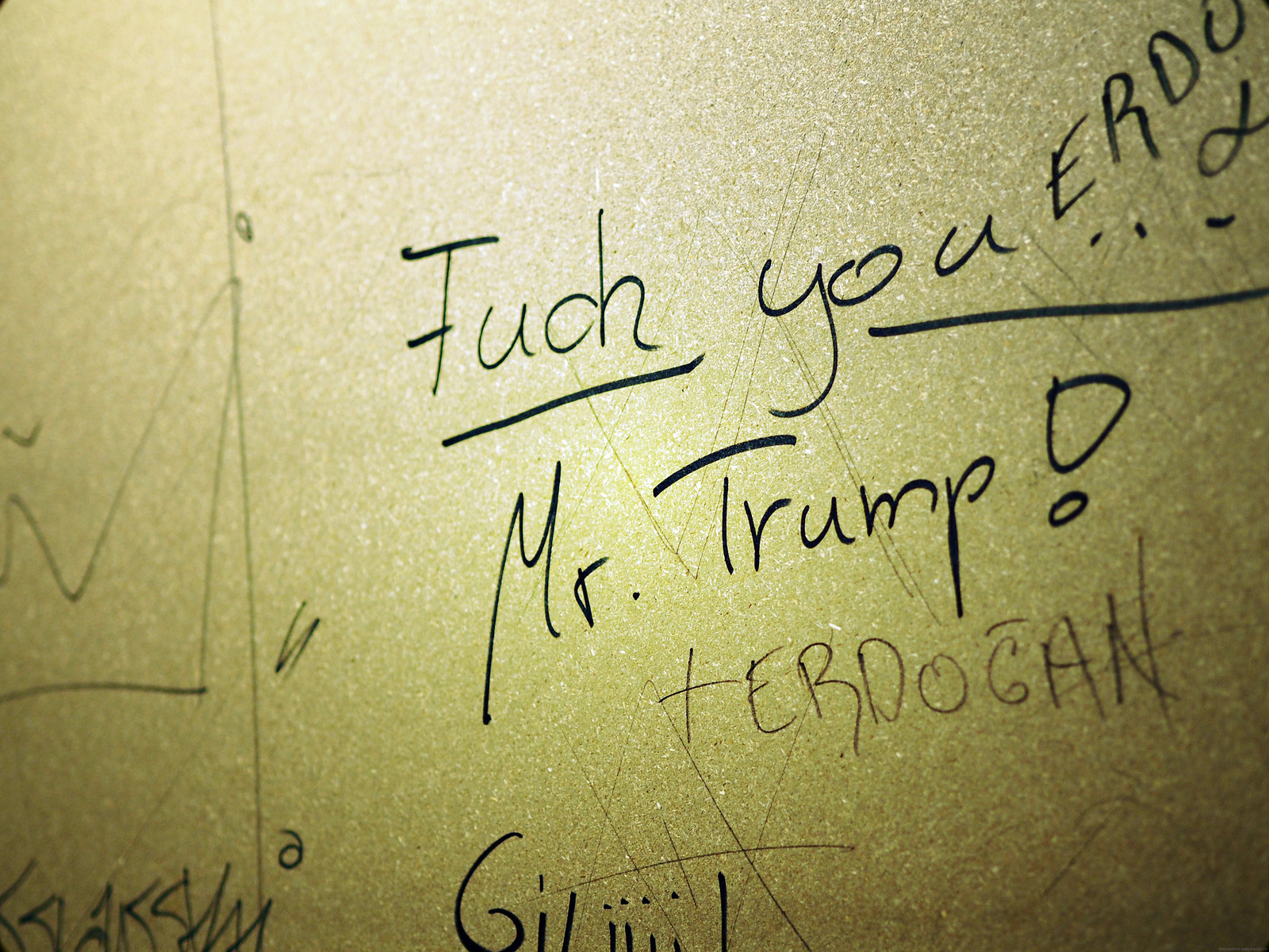 Fuck you Mr Trump German Street Art Graffiti_effected