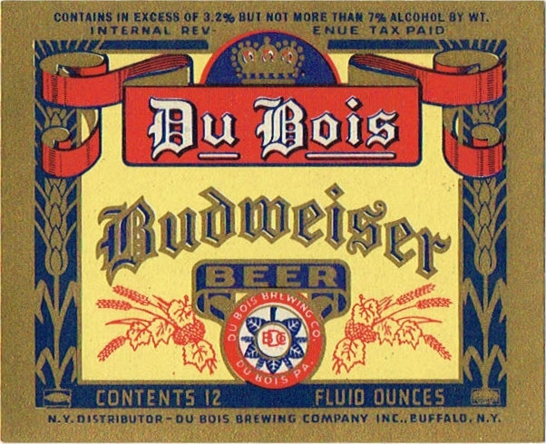 Du-Bois-Budweiser-Beer--Labels-Dubois-Brewing-Company