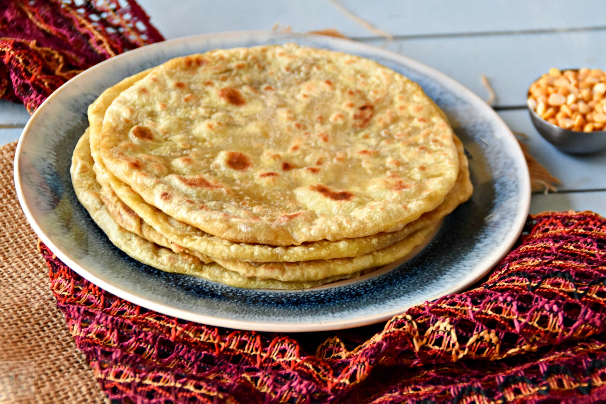 Delicious Traditional Flatbread Stuffed With Sweet Filling