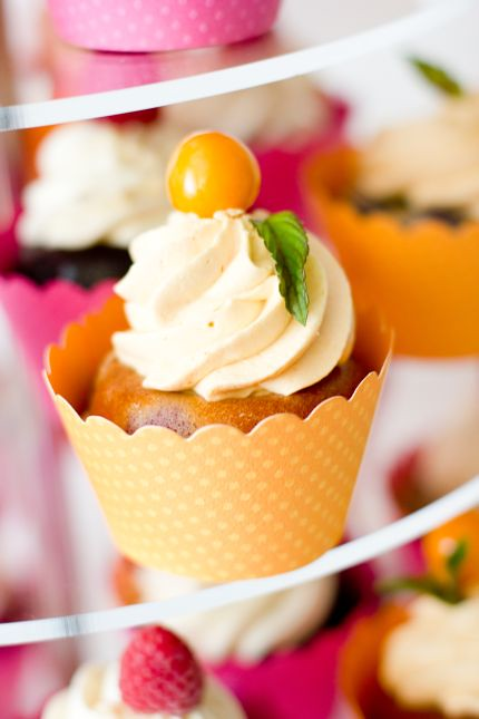 V Cupcakestower Hochzeitstorte Cupcakes Pink Orange Frucht Flickr
