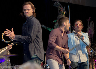 Vegas 2014 :: Jared & Jensen rocking with Rob Benedict and Electric Waste Band | by KarenCookePhotography