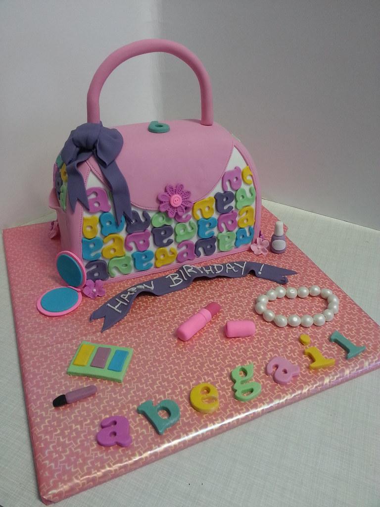 Girls Handbag And Make Up Birthday Cake Willi Probst Bakery Flickr