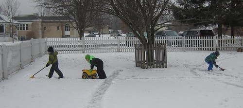 plowing the roads