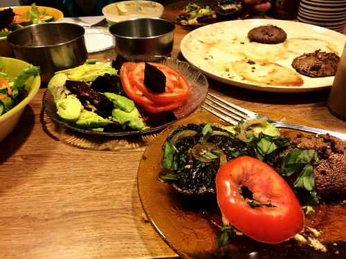 Portobello Mushroom Dinner with Ana (Feb 26 2016)