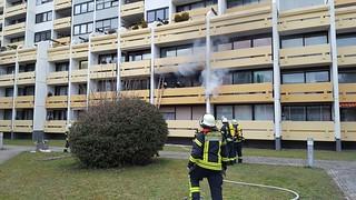 Feuer auf einem Balkon - 02.03.17