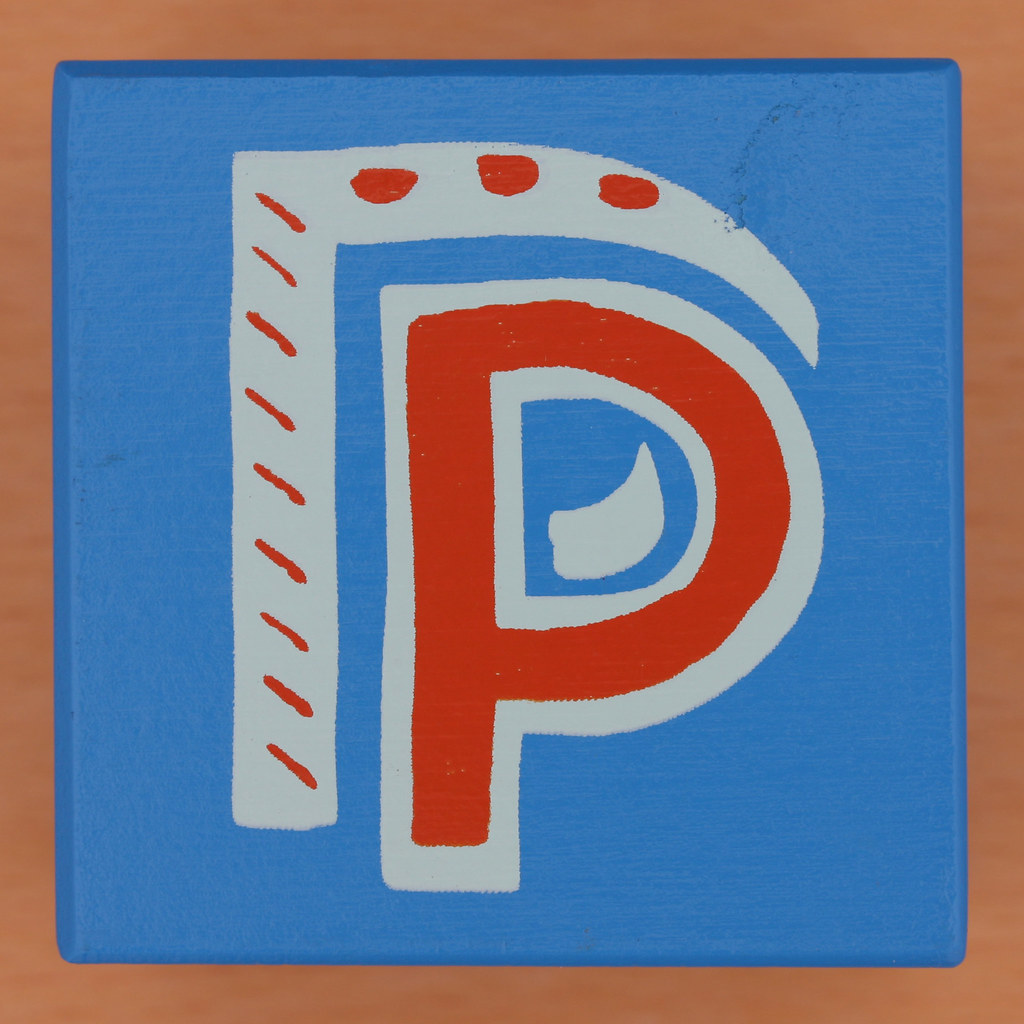 bob and roberta smith alphabet block letter p by leo reynolds