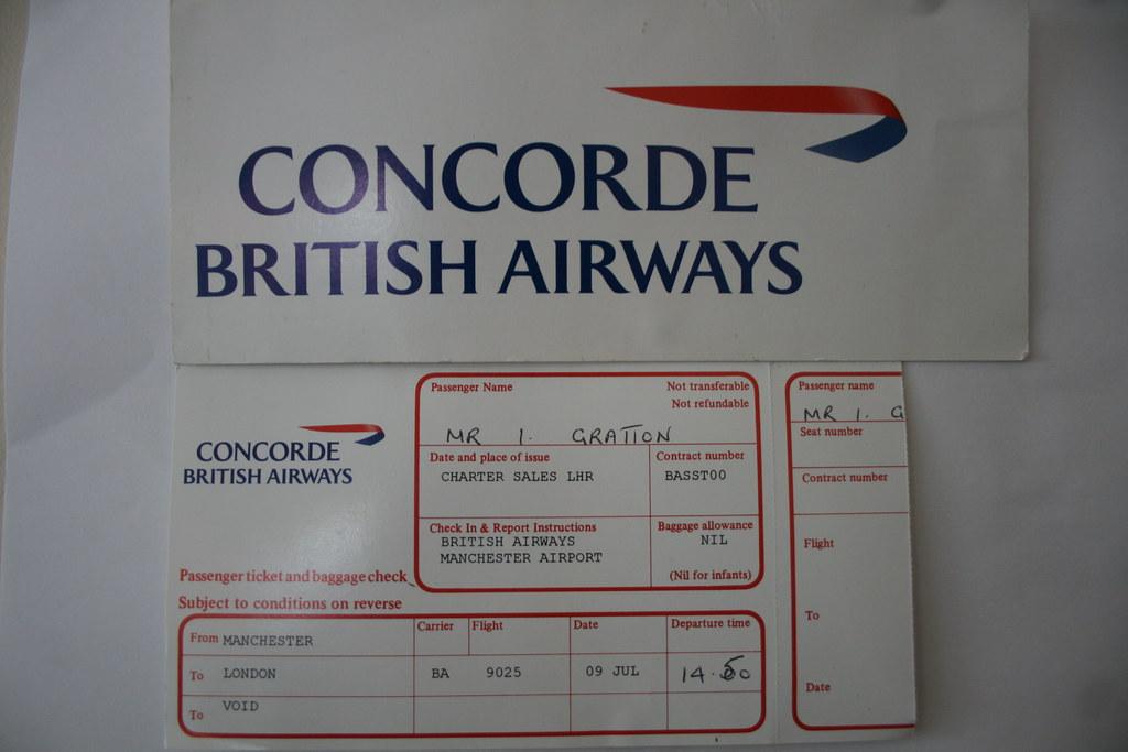 my concorde ticket on 9th july 2000 i flew on concorde g b flickr