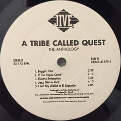A TRIBE CALLED QUEST:THE ANTHOLOGY(LABEL SIDE-B)