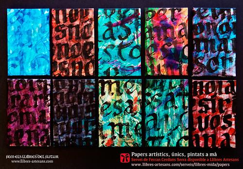 Cobertes amb papers pintats obra original de Ferran Cerdans