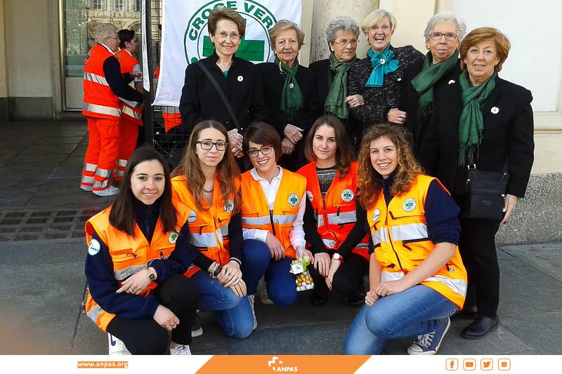 Le dame patronesse della Croce Verde di Torino