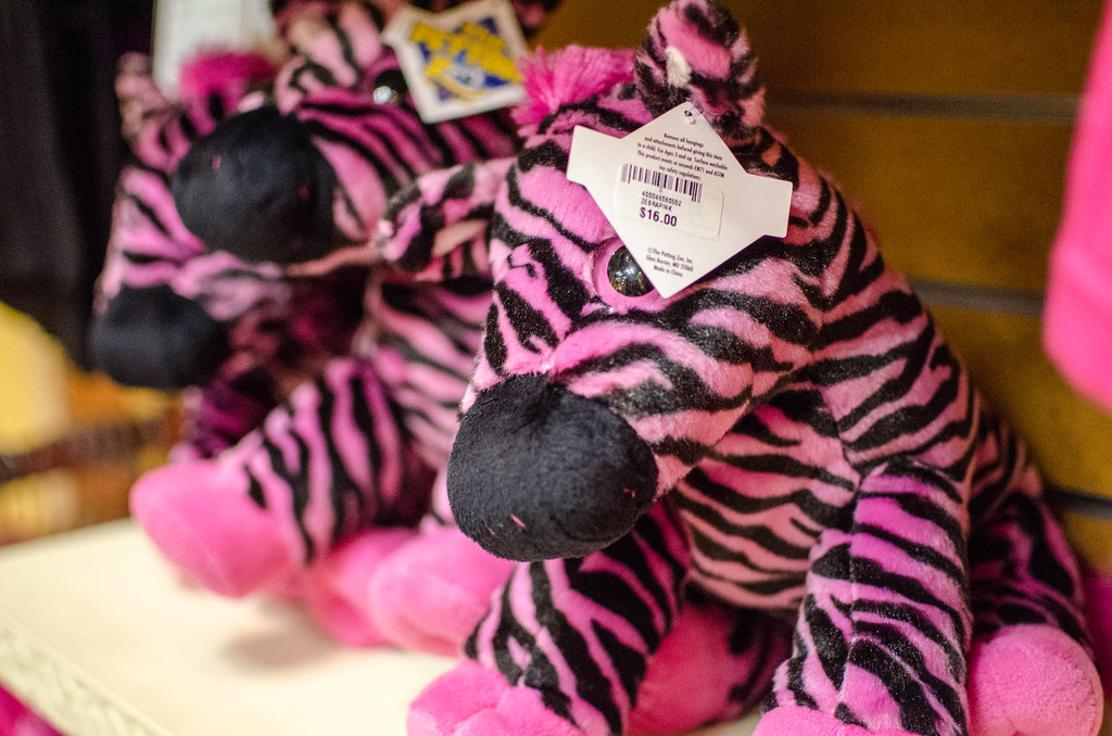 Pink Zebra Stuffed Animals In The Museum Gift Shop Flickr