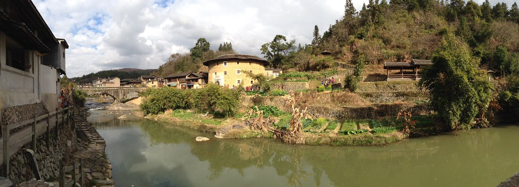 Landscape Panorama of Jinfeng Creek