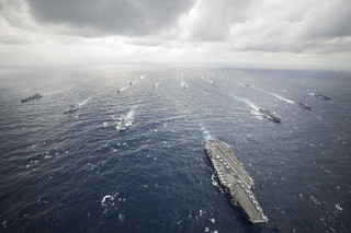 USS George Washington leads the George Washington Carrier Strike Group. | by Official U.S. Navy Imagery