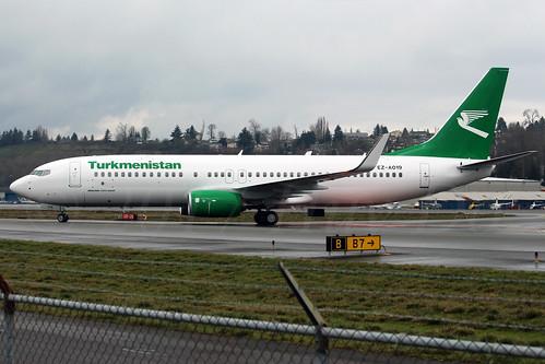 Boeing 737-82K(WL) Turkmenistan Airlines EZ-A019