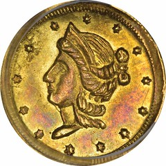 1854 Round Half Dol. obverse