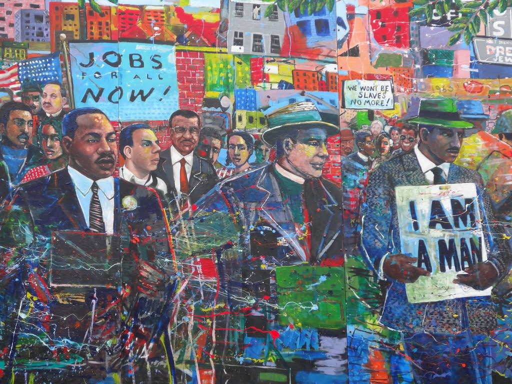 Civil Rights Mural At Martin Luther King Memorial Park In Flickr