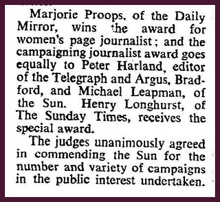 25th March 1969 - Press award for Peter Harland of the T&A | by Bradford Timeline