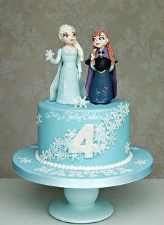 Disneys Frozen Birthday Cake  by www.jellycake.co.uk