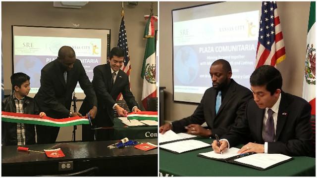 Consulado de México y Distrito Escolar de Kansas City inauguran Plaza Comunitaria en favor de la comunidad migrante.
